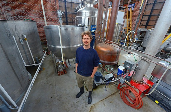 Dwight Chew, head distiller at James River Distillery, started as a brewer at Maryland's Flying Dog Brewery. - SCOTT ELMQUIST