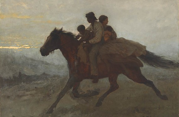 "Eastman Johnson's evocative ""A Ride for Liberty, the Fugitive Slaves, March 2, 1862"" is one of the standout works included in a new exhibit devoted to Walt Whitman's poetry and the paintings of the Civil War era."