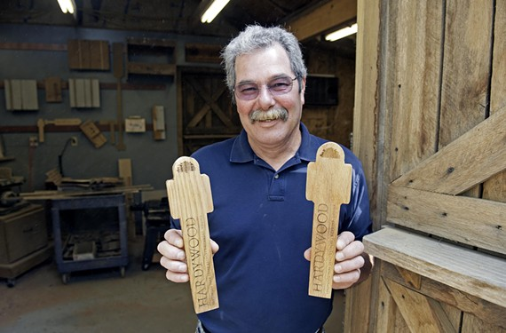 Ed Bath has shifted his Citiwood business to tap handle making for craft breweries. He uses reclaimed wood from fallen trees around Richmond.