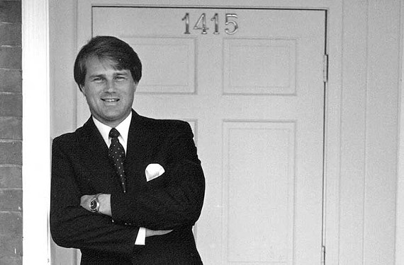 Ed Eck at one of his West Main Street properties about 1985.