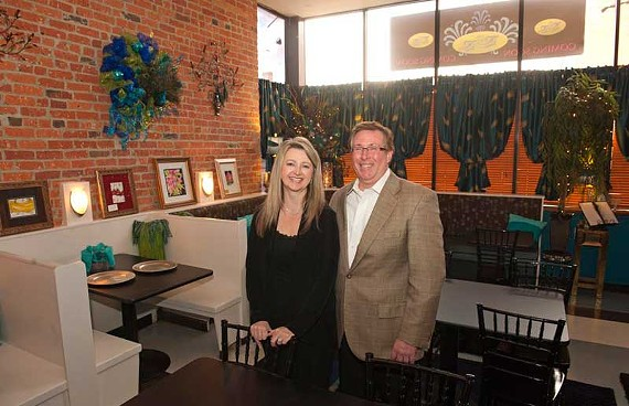 Elizabeth Lee and John Purcell introduced their Fan District restaurant, Peacock's Pantry, to friends and family last week. They'll open to the public in early December. - SCOTT ELMQUIST