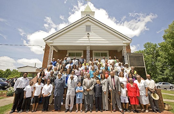 Every Sunday, descendants of the families that lived here in the 1700s gather at Gravel Hill Baptist Church. - ASH DANIEL