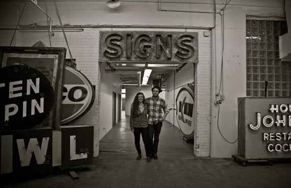 Filmmakers Faythe Levine and Sam Macon are bringing their documentary about the crafty world of sign painting to Virginia Commonwealth University's graphic design department.