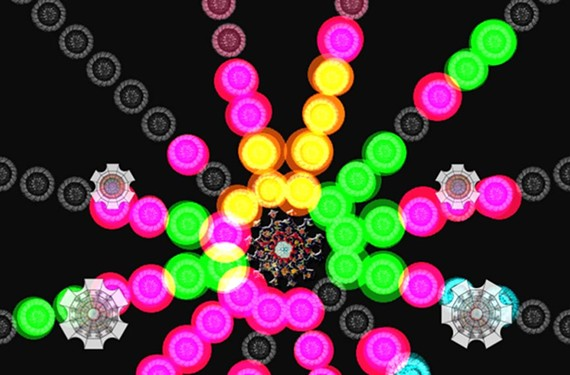 """""""Floris,"""" a puzzle game designed by Andrew Bowers, has been downloaded 15,000 times."""