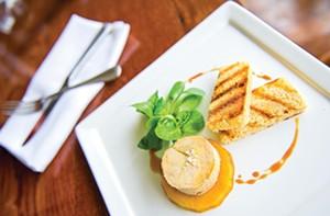 Foie gras is on the regular menu at Belmont Food Shop, but it's the late night menu that has surprises. - ASH DANIEL