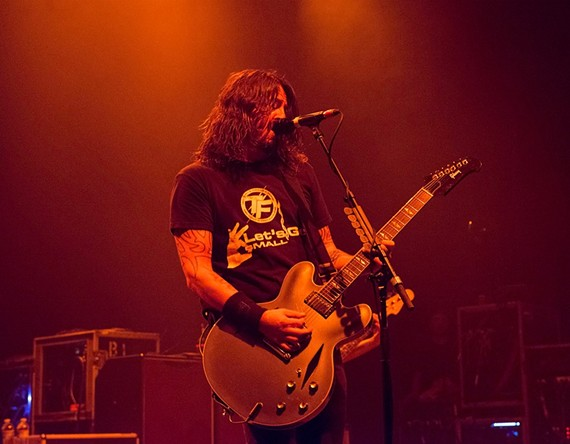 Foo Fighters frontman Dave Grohl at the National on Sept. 17.