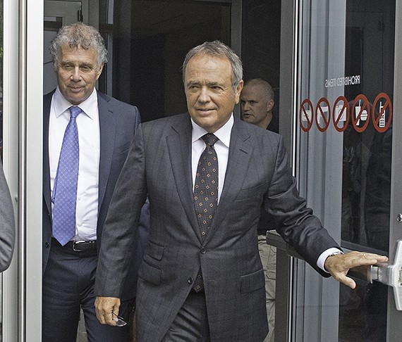 Former Star Scientific CEO Jonnie Williams leaves the federal courthouse last summer after testifying in the corruption trial of former Gov. Bob McDonnell and his wife, Maureen McDonnell. - SCOTT ELMQUIST