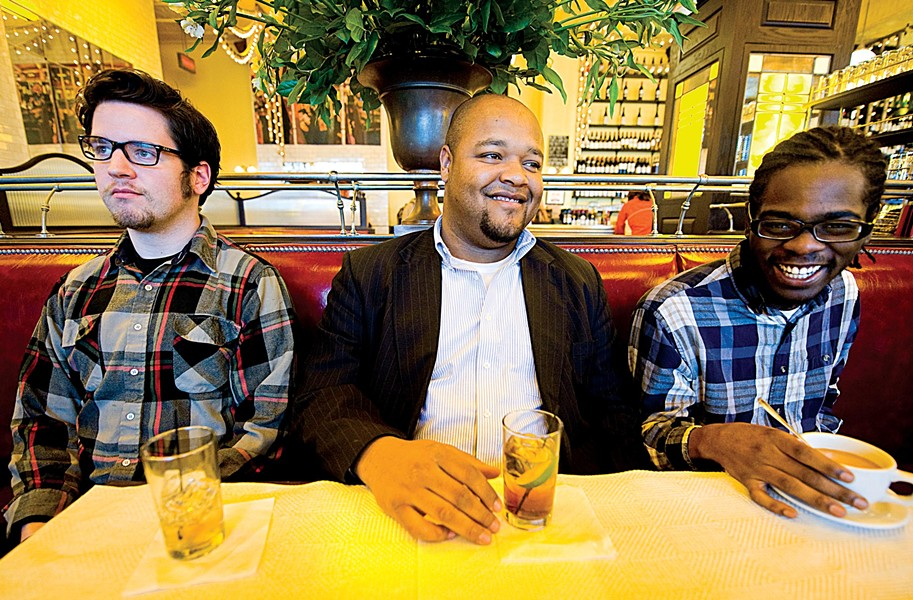 (From left) Andrew Randazzo, Marcus Tenney and Devonne Harris all bring something unique to the Marcus Tenney Trio, with each player shining in his own right. - ASH DANIEL