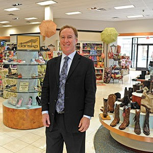Gary Weiner, president of Saxon Shoes, says the company thrives on customer service and staying ahead of fashion trends. Photo by Scott Elmquist.