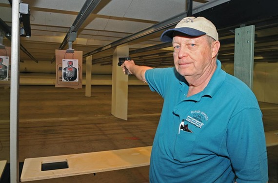 "General Manager Edward L. Coleman designed Colonial Shooting Academy to include not only 51 shooting lanes but also a store, cafe and private club. ""This is going to be a destination point for people to come together after work and gather together,"" he says. - SCOTT ELMQUIST"
