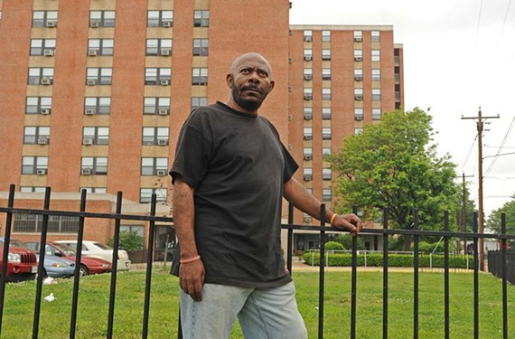Gerald Fleming, a 61-year-old resident of Fay Towers in Gilpin Court, hasn't given up after 10 years of seeking steady employment. - SCOTT ELMQUIST
