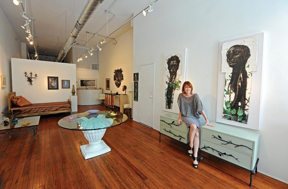Ghostprint Gallery owner Geraldine Duskin has had a three-decade long career as a fine arts dealer and costume designer. - SCOTT ELMQUIST