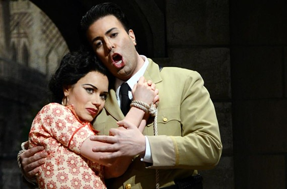 Ginger Costa-Jackson, pictured with Dinyar Vania as Don José, has played the classic opera role of Carmen for three years and could nail the lines in her sleep.