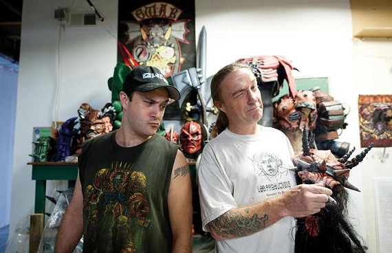 """Gwar artist Matt Maguire and bandleader Dave """"Oderus"""" Brockie are busy planning a """"carnival of chaos"""" this weekend. The metal fest, originally scheduled for Hadad's Lake, has been moved to the National. - SCOTT ELMQUIST"""