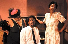 "Harlem nights: Valerie Davis, L. Roi Boyd and Shola Walker in Sycamore Rouge's ""Simply Heaven,"" opening Sept. 23."