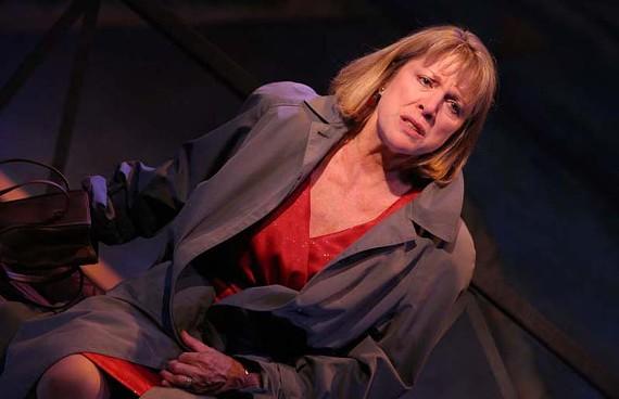 "Heart like a wheel: Melissa Johnston Price brakes hard in ""Becky's New Car."" - JAY PAUL"