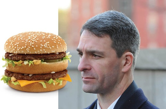He's lovin' it: The Cuccinelli campaign has spent more at McDonald's than at any other restaurant.