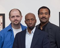 """""""I know what I like."""" David White, D.L. Hopkins and J. Ron Fleming are the stars of """"Art,"""" co-produced by Sycamore Rouge and Richmond Shakespeare."""