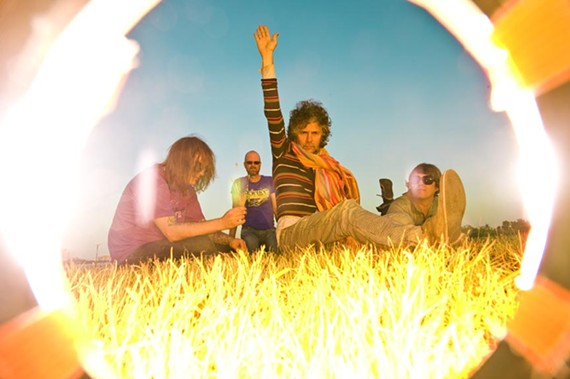 """""""I love these weirdos!"""" the Flaming Lips are, from left, Kliph Scurlock, Michael Ivins, Wayne Coyne and Steven Drozd. - J. MICHELLE MARTIN-COYNE"""
