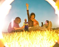 """""""I love these weirdos!"""" the Flaming Lips are, from left, Kliph Scurlock, Michael Ivins, Wayne Coyne and Steven Drozd."""