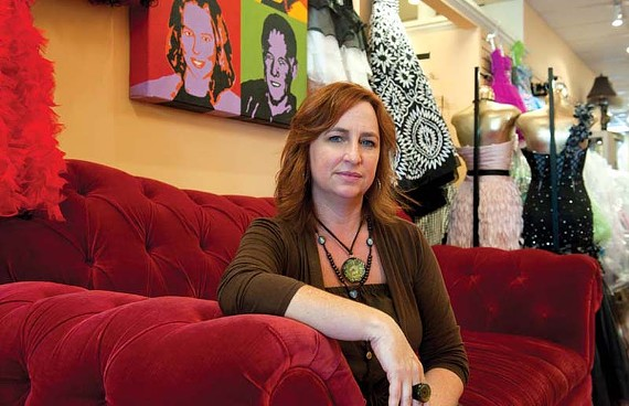 """""""I try to not take my mind back there again. But this is the year for me, you know?"""" Lisa McSherry, owner of Lex's of Carytown, was an eyewitness to the devastation of the Twin Towers attacks. - SCOTT ELMQUIST"""