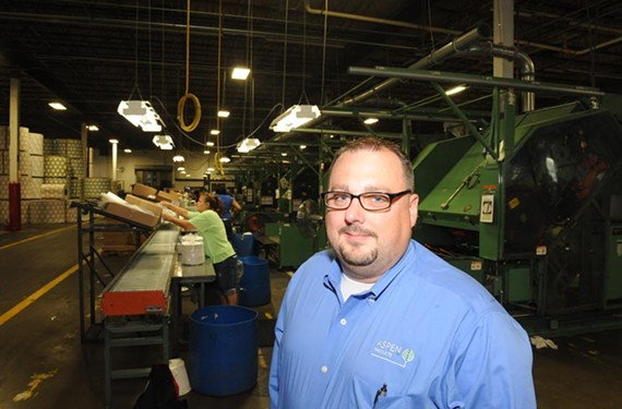 """""""If I could hire 30 people tomorrow, I would. And we just can't,"""" says Shannon Walls, plant manager at Aspen Products, a paper-plate manufacturer on Jefferson Davis Highway."""