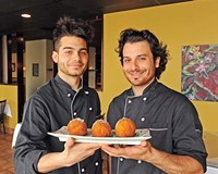 If the arancini can't pull you in to Sapori, maybe the owners' sons Luca and Dario Amato will.