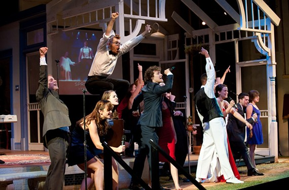 """In a crowd-pleasing finale to the Artsie Awards, the cast of """"Spring Awakening"""" reprises two songs from its summer production, which won best musical and best musical direction. - AARON SUTTEN"""