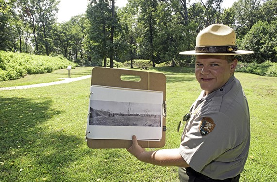 In his role as a ranger at Richmond National Battlefield Park, Mike Gorman uses props and personality-driven shows to engage the crowd.