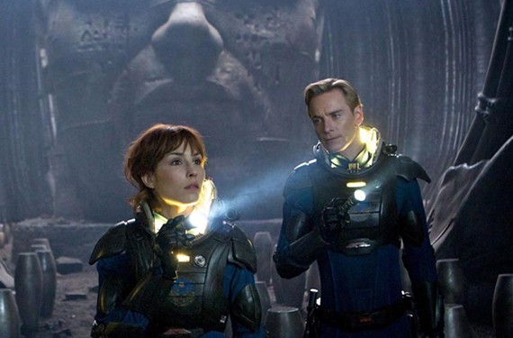 """""""In space, no one can hear you use hair products."""" Noomi Rapace and Michael Fassbender are art directed within an inch of their lives in director Ridley Scott's highly-anticipated return to the """"Alien"""" franchise. - KERRY BROWN"""