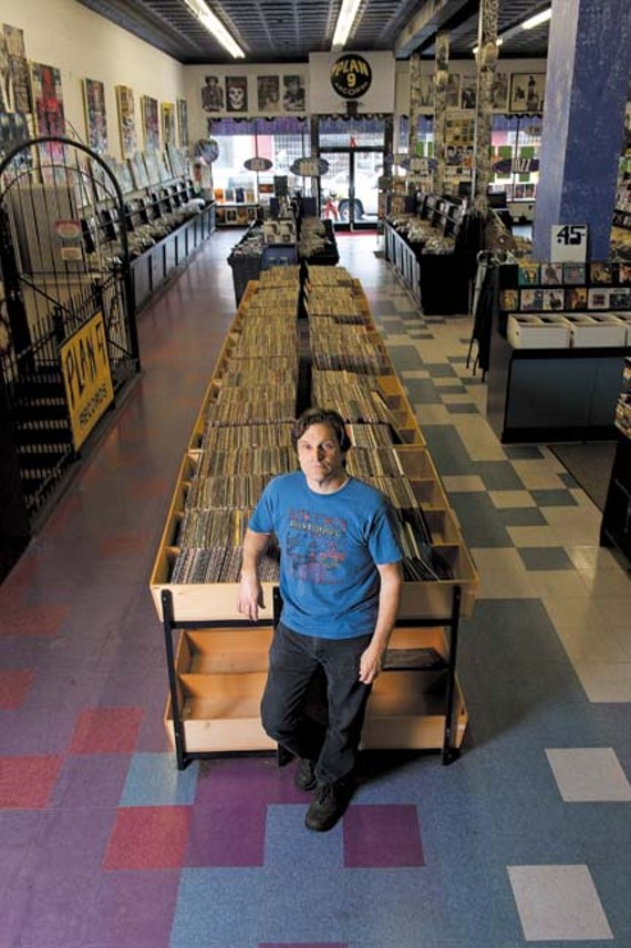 In the sweet spot: Jim Bland, co-founder and owner of Plan 9 Records. - SCOTT ELMQUIST