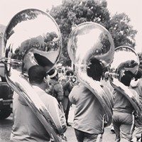 #HiddenRVA on Instagram Instagram by: Lorna Pinckney (verses_openmic)Where: Virginia Union University Homecoming 2013.What caught my eye: VUU hasn't had a band in some time due to the instruments being stolen some time ago. This is the first year in a long time that VUU has had its very own marching band participate in the historic homecoming activities!
