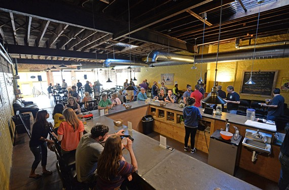 Isley Brewing Co. attracts a crowd in Scott's Addition, where food and beverage options are quickly growing.