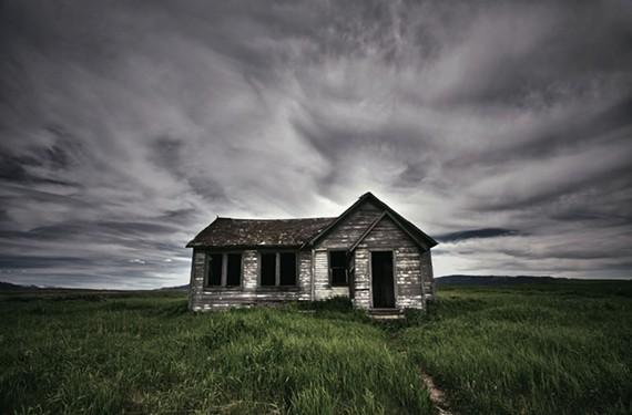 """Isolated."" An abandoned house in Idaho. - JAMIE BETTS PHOTO"