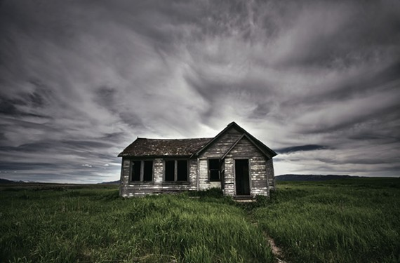 """Isolated."" An abandoned house in Idaho. - JAMIE BETTS PHOTO"