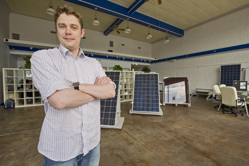 James Huff of Abakus Solar says everybody wins if more people use the sun's energy. - ASH DANIEL