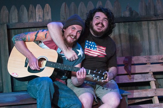 """Jasper (Ben Hill) and K.J. (Maxwell Moore) bring a perfect slacker vibe to Firehouse's """"The Aliens."""""""