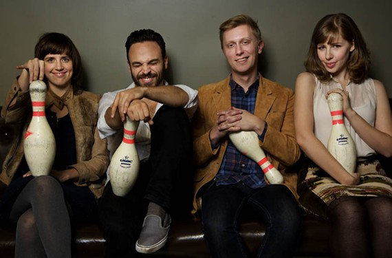"""Jazz isn't going anywhere, hopefully."" Lake Street Dive is, from left, Bridget Kearney, Mike Calabrese, Mike Olson and Rachael Price."