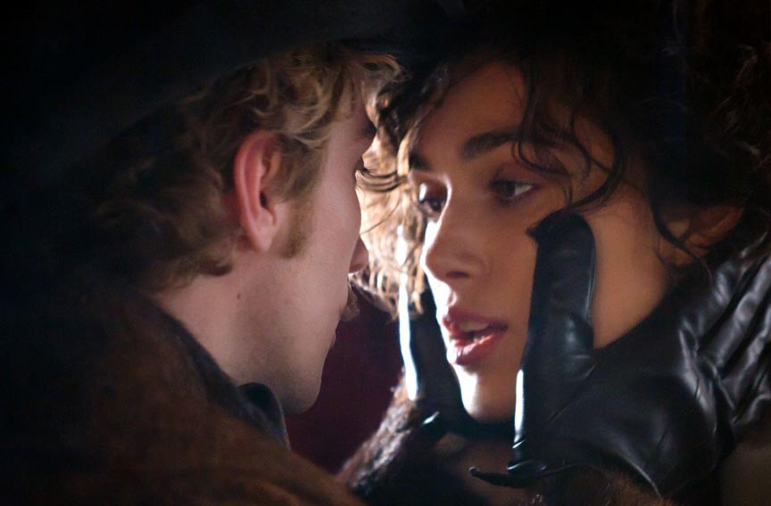 "Joe Wright's adaptation of the Tolstoy classic, ""Anna Karenina"" stars Aaron Taylor-Johnson as Vronskly and Keira Knightley as Anna. - LAURIE SPARHAM"