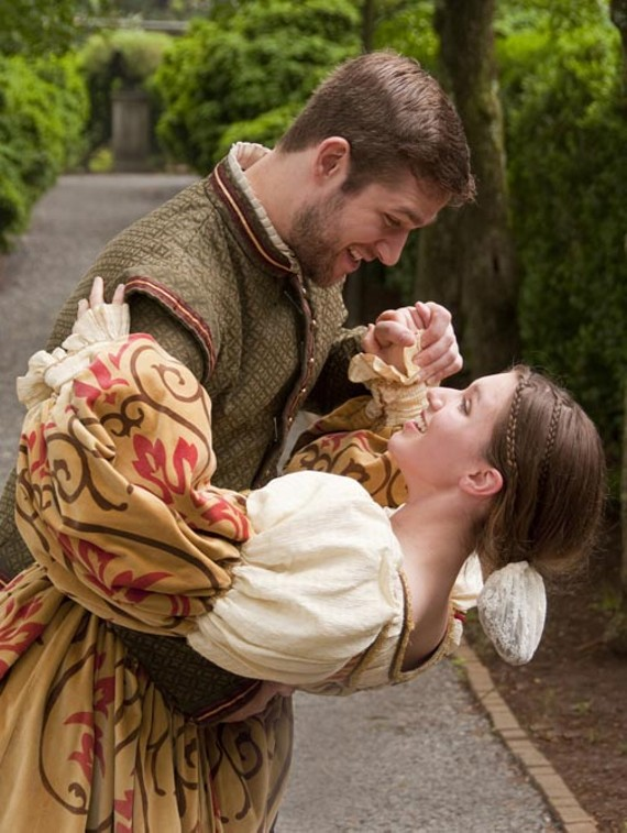 """Jonathan Conyers plays Antipholus of Syracuse and Alex Wiles is Luciana in the family-friendly Richmond Shakespeare romp, """"The Comedy of Errors."""" - ERIC DOBBS"""