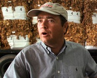 Jonnie Williams at a tobacco warehouse.