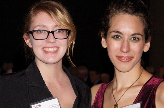 Josephine Stone, left, with Quail Bell Executive Editor Christine Stoddard at Style Weekly's Oct. 25 Top 40 Under 40 celebration. Stoddard was honored for her work with the fledgling magazine. - CHRISTINE STODDARD