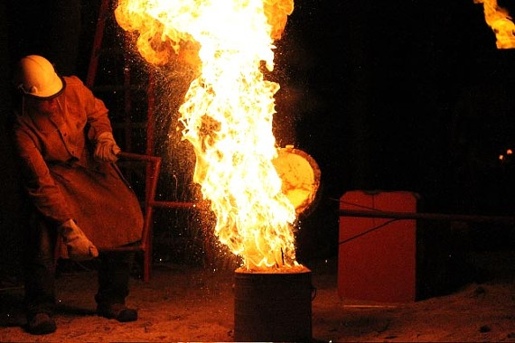 Justin Bishop's inventive cast-iron creations set off all kinds of sparks this month at Red Door.