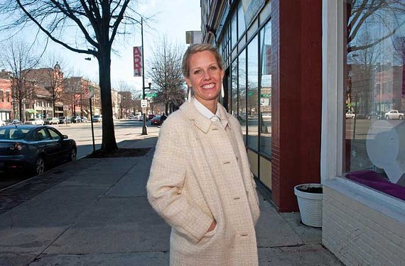 Katie Ukrop, owner of Quirk Gallery and vice president of the Downtown Neighborhood Association, says that there is consensus for the mayor's arts district proposal. Others think the plan is too big. - SCOTT ELMQUIST