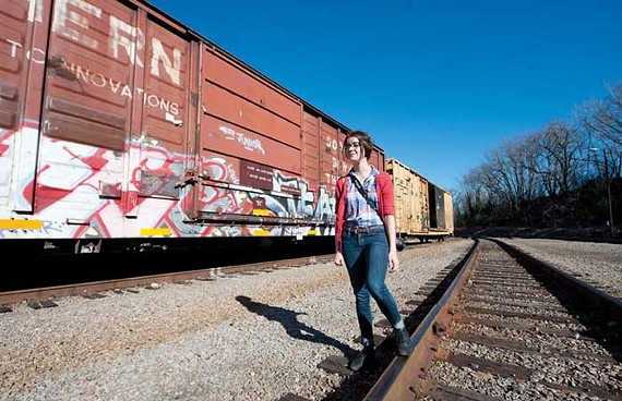 Keeley Laures explores the city's train tracks and alleyways for her photoblog, Graffiti Richmond. - SCOTT ELMQUIST