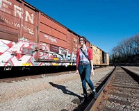 Keeley Laures explores the city's train tracks and alleyways for her photoblog, Graffiti Richmond.