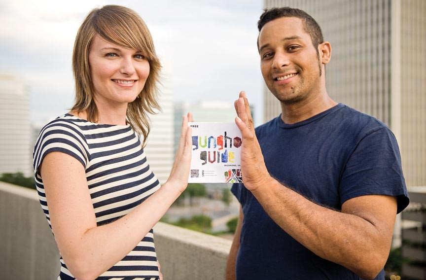 Kelly Brown and Christian Detres created Gungho Guides as a curated collection of the best things to see, do and eat in Richmond. - ASH DANIEL