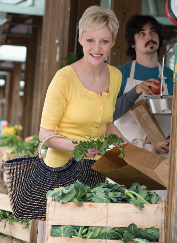 Kendra Bailey Morris frequents local farmers' markets for ingredients for her slow-cooker recipes.
