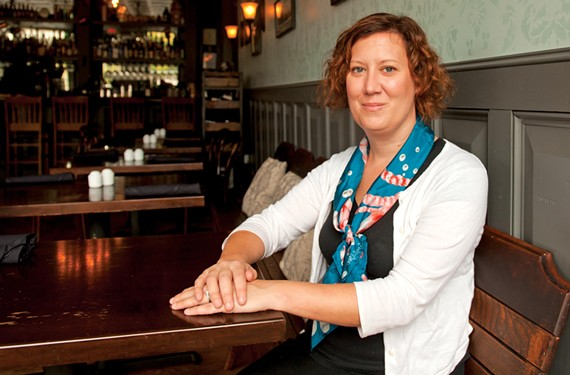 "Kendra Feather has a simple philosophy: ""Not every situation has to be the best fine-dining restaurant in the whole wide world. ... You can be a great good place."" She's shown here at the Roosevelt. - SCOTT ELMQUIST"