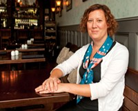 "Kendra Feather has a simple philosophy: ""Not every situation has to be the best fine-dining restaurant in the whole wide world. ... You can be a great good place."" She's shown here at the Roosevelt."